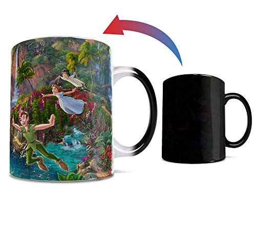Disney - Peter Pan - Neverland - One 11 oz Morphing Mugs Color Changing Heat Sensitive Ceramic Mug – Image Revealed When HOT Liquid Is Added!