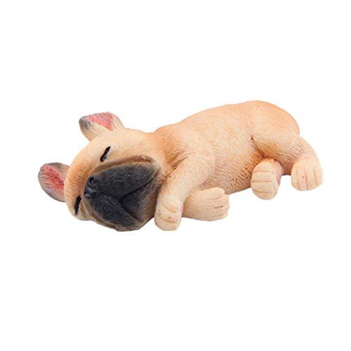 Homyl Französischer Bulldoggen Welpe Figur - Hellbraun #2, 4.7X 2.1 x 2.5cm