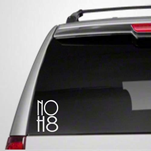 Calcomanía de vinilo para ventana con texto en inglés 'No H8 5 Car Hate Descriminate Equality I Love Peace Prote Speech Org G23