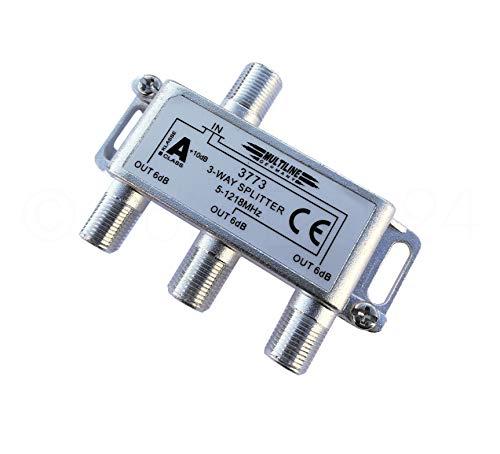 3-fach Verteiler für Breitband Kabelanschluss - Klasse A+ 5-1218 MHz