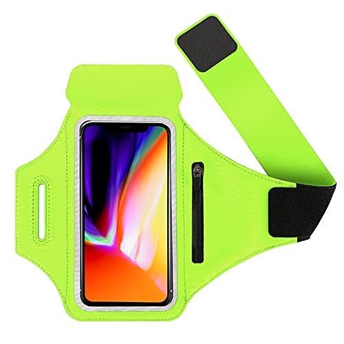 xmk2021888 Riñonera Sports Brazy Bag Running Sports Mobile Phone Shell Brazdband es Adecuado para Todo Tipo de teléfonos móviles Bolsa de teléfono móvil Universal Ajustable (Color : Green)