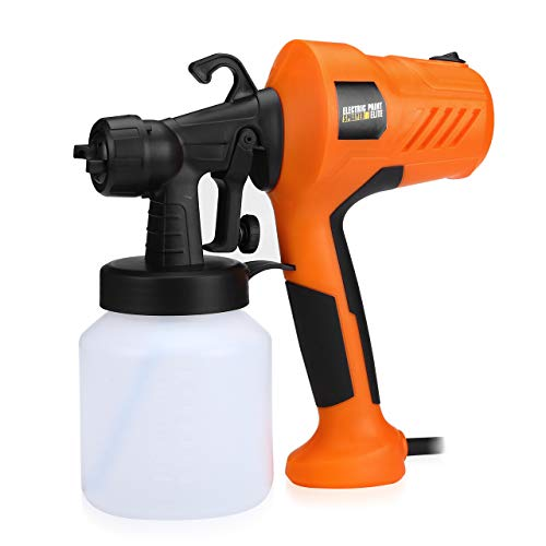 Magolin Paint Sprayer, 700 Watt HVLP High Power Home Electric Spray Gun with 800ML 5 Nozzle Sizes Lightweight for Fence, Cabinet and Home Painting, Easy Spraying and Cleaning (0.5/1.0/1.2/1.5/2.5 mm)