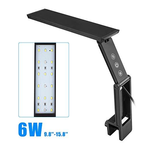 FTALGS - Juego de abrazadera de luz LED para acuario con control táctil y 3 modos de regulación