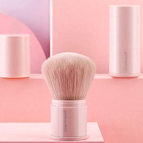 Jieqiong Voyage cosmétique de Brosse Portant des Outils télescopiques de Maquillage avec la Couverture d'une Brosse de Maquillage de débutant,Rose