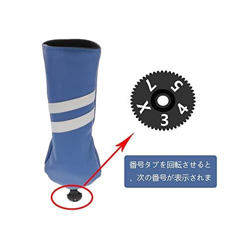 Toygogo Headcover-Set - Golf Schlägerhaube Driverkopfhüllen für Holz Driver bis 460 CCM - Weiß