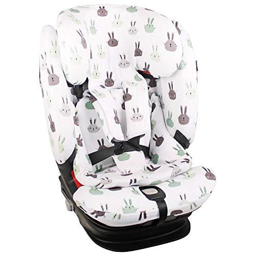 Fundas Para Sillas de Algodón Oeko-Tex para Silla de Coche Maxi Cosi Titan Pro Funda Silla Garantiza la Comodidad de la Piel del Bebé y Ayuda a no Sudar Conejo