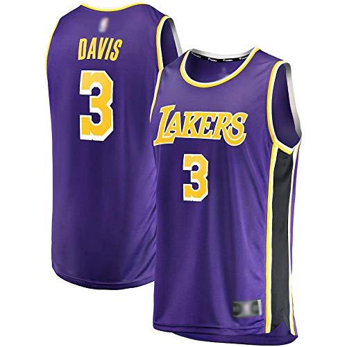 Camiseta de baloncesto personalizada Anthony Los Angeles NO.3 Lakers Davis 2020/21 Réplica de Réplica de Réplica Jersey de Secado Rápido para Hombres - Edición Asociación - Morado