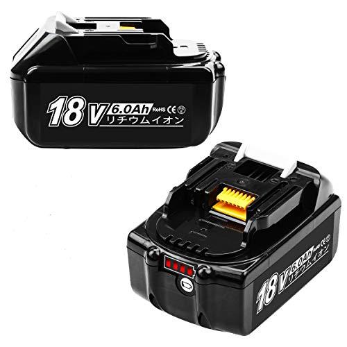 Enermall 互換 マキタ 18v バッテリー BL1860B互換品 【LGセル/サムスンセル採用】BL1860B マキタバッテリー互換 マキタ互換バッテリー18v:BL1815/BL1830/BL1840/BL1850/BL1860/194205-3