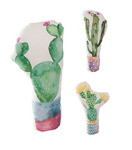 Quantum Interior Türstopper Kaktus, Deko Kaktus, weicher Stoff, schwere Füllung ca. 1kg, 100% Polyester, Höhe ca. 40 cm (Ulrike)