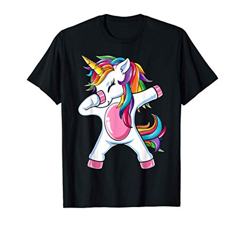 Dab Unicorn Dabbing Unicorn Gafas de sol Arco Iris Camiseta