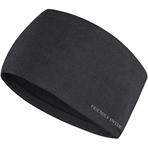 The Friendly Swede Stirnband - Kopfband, Headband für optimalen Ohrenschutz beim Jogging, Wandern, Skifahren und Motorrad Fahren - Stirnbänder für Damen und Herren das Winter und Herbst