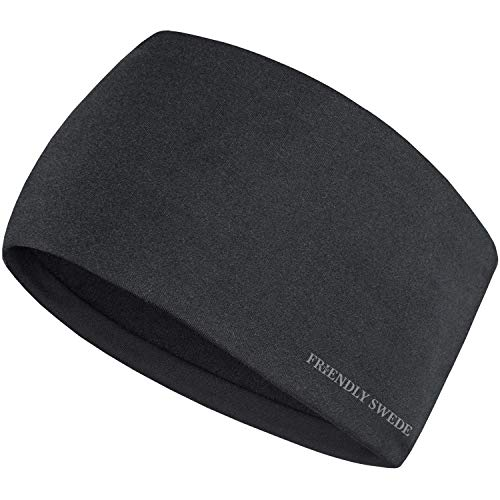 The Friendly Swede Stirnband - Kopfband, Headband für optimalen Ohrenschutz beim Jogging, Laufen, Wandern, Fahrrad- und Motorrad Fahren - Stirnbänder für Damen und Herren