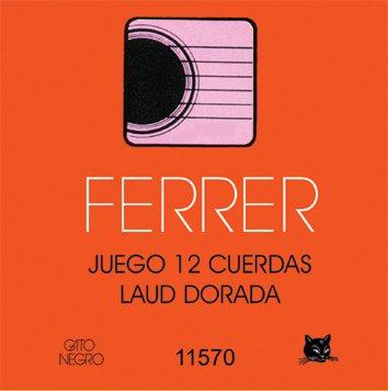 Juego de cuerdas para Laud 12 cdas Doradas Ferrer. Gato Negro