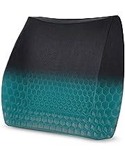Drakefyre クッション ランバーサポート 涼しい 体圧分散 ハニカム構造 蒸れない 背もたれ 腰当てクッション 通気性 腰枕 オフィス 椅子 車用 シリカゲル 洗える 取付バンド調節可能