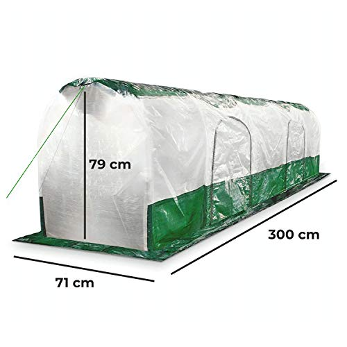 Bio Green Super Dome Folientunnel, Transparent, Grün