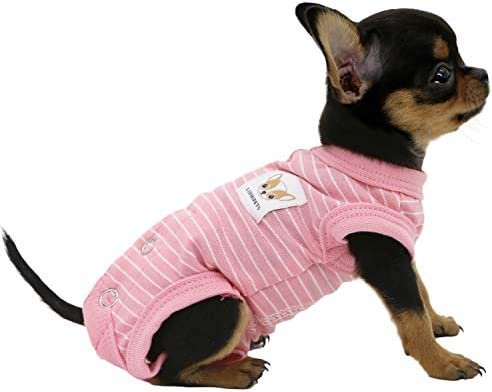 LOPHIPETS 100 Cotton Female Dog Shirts Sleeveless Pajamas for Small Dogs Chihuahua Puppy Clothes product image