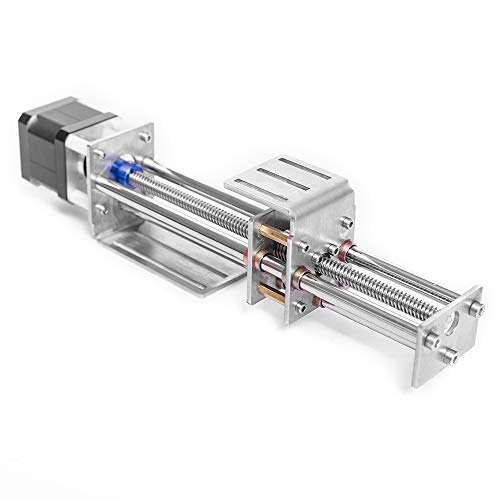 HUKOER Pieza de máquina de grabado de guía lineal XYZ, Tornillo de bola Lineal CNC Movimiento deslizante, Impulsión del Motor paso a paso Longitud de carrera de 150 mm
