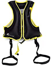 SING Jundo Inflatable Snorkel Vest Floatage Jackets for Adults, Swimming Jacket with Adjustable Leg Straps for Men Women Suitable for 90-220lbs