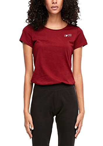 Q/S designed by - s.Oliver Damen 41.912.32.5696 T-Shirt, Rot (Cabernet 3930), (Herstellergröße: XX-Large)