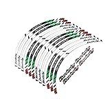 DOCAISIC Etiqueta engomada Reflectante del Borde Grueso de la Motocicleta Yi calcomanía para Todos Piaggio Beverly 125 250 350 500 16'14' para la Moto (Color : A 1)