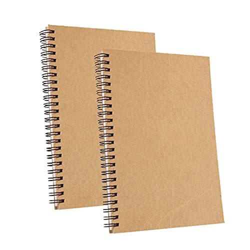 Cuaderno espiral A5, Cuaderno, Bloc Note, Cuaderno Espiral, Doble Raya Libretas, Libreta con Separadores, Cuaderno Inteligente, Bloc de Notas , Libreta (Marrón)