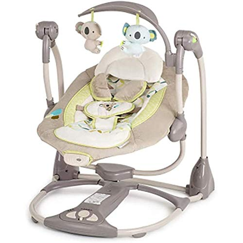 SSeir Asiento de Swing de bebé, Columpio portátil eléctrico para bebé Nacido con Hamaca -Door Bebé Bodyguardia y Mecedora, B (Color: a)