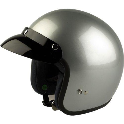 Viper Rs-04 motorhelm jethelm touring helm Vespa Scooter jethelm M Metaal zilver