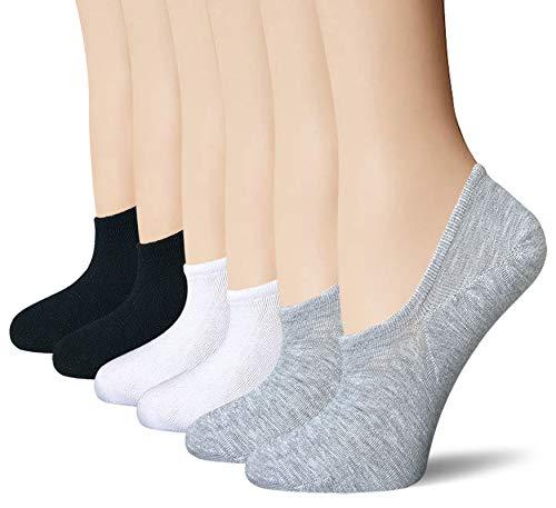 BERING Women's No Show Socks 6 Pairs Non Slip for Vans Slip On Sneakers