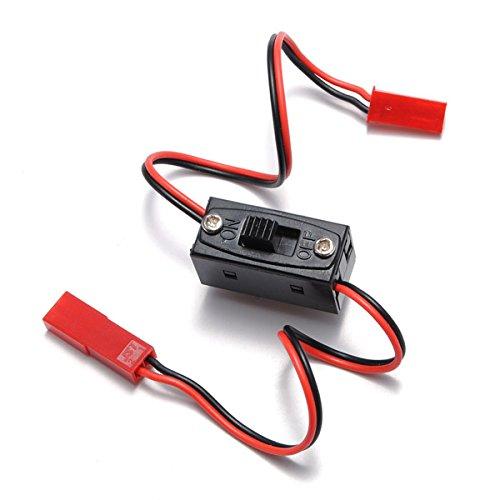 Bluelover Interrupteur on/Off Connecteur Fiche Jst Homme Femme Fil pour Rc Li-Po Batterie