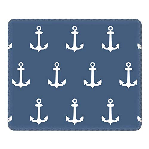 Mouse Pad Navy Anchors Cartoon Non-Slip Rubber Base Mouse Mat for Laptop Gaming Computer Mousepad 8.3 X 10.3 in