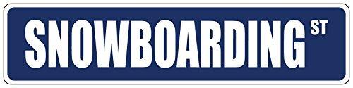 76DinahJordan Snowboarden Blauwe Straat Teken Stickers Decals Nieuwigheid Grappige Waarschuwing Teken Stickers Venster Stickers Zelfklevende Veiligheid Teken 8X2