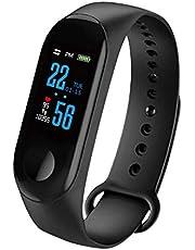 Kasachoy M3 fitnesstracker, activiteitentracker, met hartslagmeter, IP67, waterdichte slimme armband met stappenteller, voor dames en heren