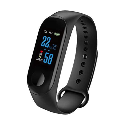 Kasachoy M3 Fitness Tracker, reloj de seguimiento de actividad con monitor de frecuencia cardíaca, pulsera inteligente impermeable IP67 con contador de pasos, reloj podómetro para mujeres y hombres