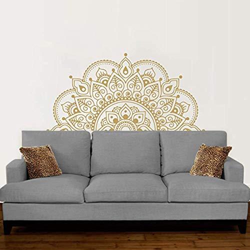 LACKINGONE Calcomanía de Vinilo para Pared de Patrón Mandala, Decoración Pegatina para Dormitorio/ Cabecera/ Ventana, Pared Arte Pegatinas Extraíbles, 57 x 118cm (1pc)