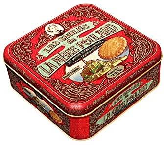 La Mere Poulard 1888 Biscotti al Puro Burro Salato   Lattina Biscotti Francesi al Burro - 1 x 250...