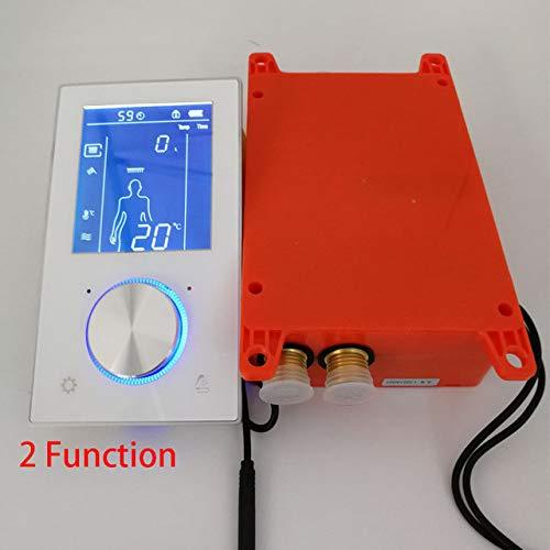 BEAURM Smart Thermostat Duschsystem Ventil LCD-Display Duschpaneel Touchscreen Badmischer Wasserhahn Wand verborgen 2/3 Funktionen, 1