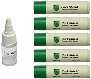 Instrument Clinic Premium Cork Grease (5 pack) with Key Oil, for Saxophones, Made in USA!