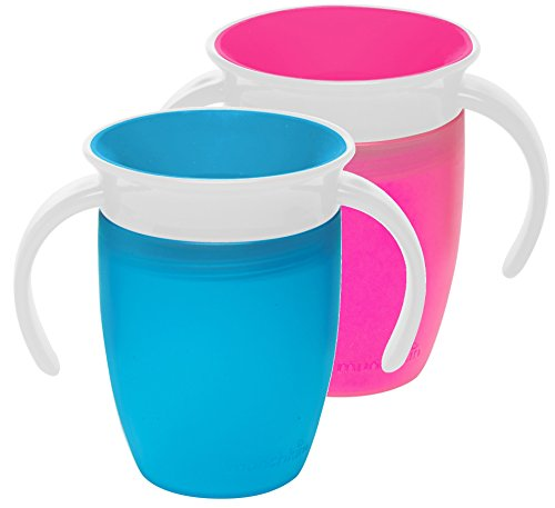 Munchkin Miracle 360 Trainer Cup, Blue/Pink, 7 Ounce, 2 Count by Munchkin