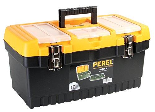 Perel OM19M Werkzeugkoffer mit Metallverschlüssen, 48,3cm