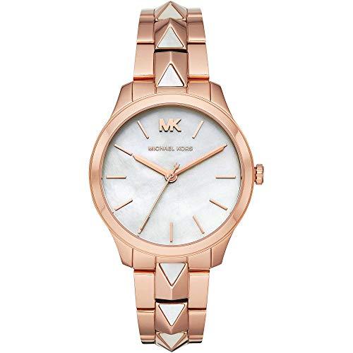 Michael Kors Damen Analog Quarz Uhr mit Edelstahl Armband MK6671