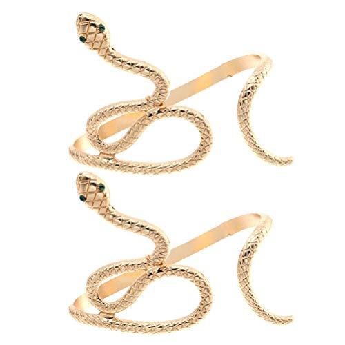 SOIMISS 2PCS Vintage Creative Snake Shape Hand Palm Pulsera Open Cuff Joyería de Mujer