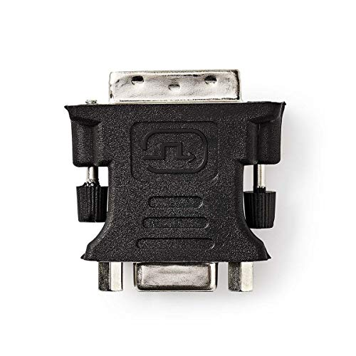 NEDIS Adaptador de DVI Adaptador DVI - VGA | DVI-I Macho de 24+5 Pines - VGA Hembra Negro