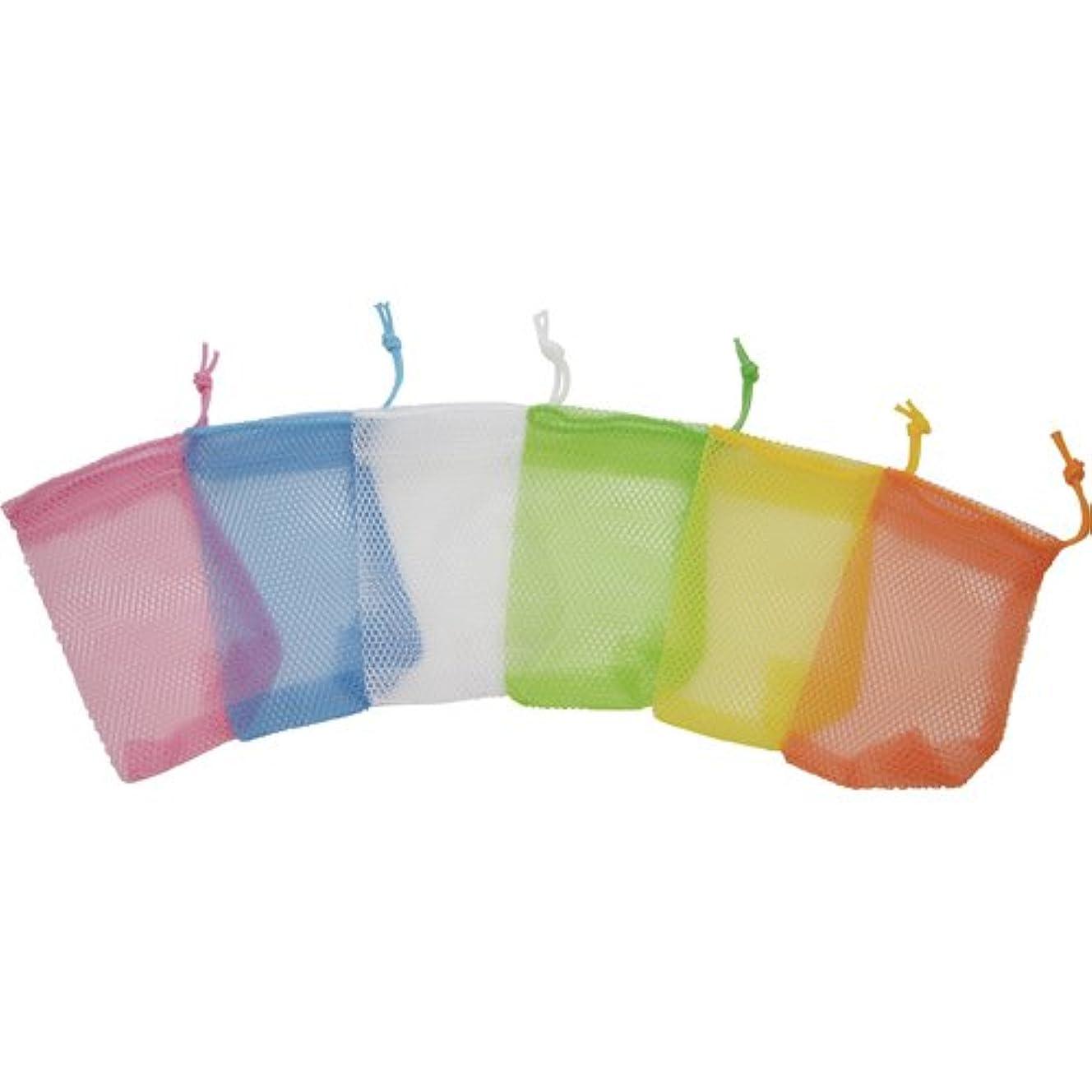 許可する大洪水徐々にsanwa(サンワ) 石鹸ネット ひもタイプ 6色アソート 24枚組 101551