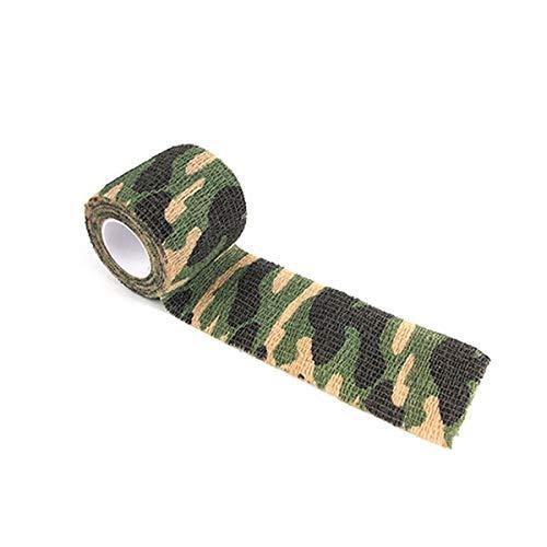 Wiederholt verwendet Tarnung Selbstklebende elastische Bandage Outdoor Teleskop Sportschutzband Tarnband Gugutogo