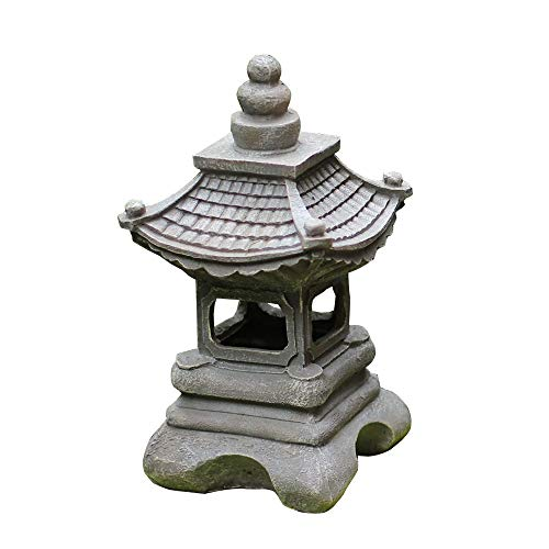 KMYX Al Aire Libre Solar Japonesa Post Linterna decoración del jardín de la lámpara Columna Decoración Zen jardín del Paisaje de diseño de la disposición Balcón Creativas Villa Solar Luces de Mesa