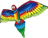 Cometas Para Adultos Cometa Cometa para niños Fácil de volar Juguetes divertidos Parrot Kite para niños y adultos Playa Parrot Kites para adultos principiantes Profesionales Viaje al aire libre FFV