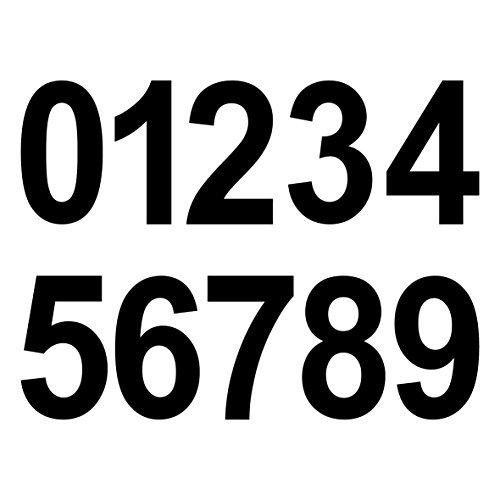 20 Piezas 8cm Negro Dígitos Números Número Pagar Número Número de la Casa Adhesivo Die Cut Tatoo Lámina Decoración