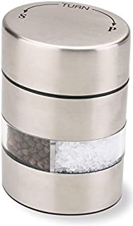 """Olde Thompson 4"""" Stainless Steel Pepper Mill and Salt Mill 2-in-1 Combo – 5080-00"""