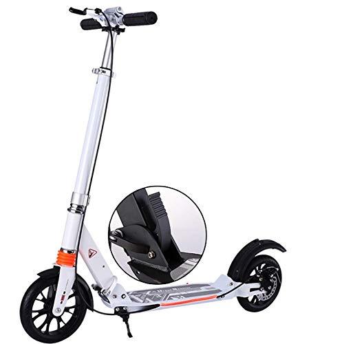 Ygqtbc Kick Streakboard adolescente adulto Vespa scooter con correa for el hombro, guardabarros trasero de freno, 230mm ruedas grandes de aleación de aluminio de cercanías moto for niños de edad de 8