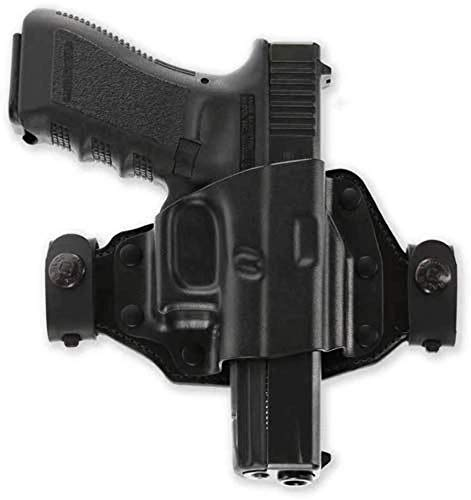 Galco Quick Slide Belt Leather Holster, S&W M&P Shield 9/40 & 2.0 9/40, Right Hand, QS652B